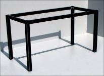 Stelaż do stołu i biurka EF-57/KC nogi kwadratowe 5x5 cm - CZARNY