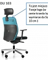Fotel biurowy obrotowy DUAL black DU 103 - z zagłówkiem
